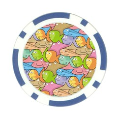 Fishes Cartoon Poker Chip Card Guard