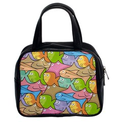 Fishes Cartoon Classic Handbags (2 Sides)