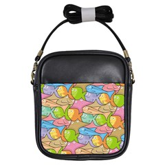 Fishes Cartoon Girls Sling Bags