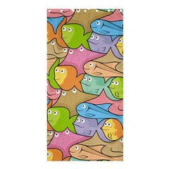 Fishes Cartoon Shower Curtain 36  x 72  (Stall)
