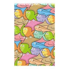 Fishes Cartoon Shower Curtain 48  x 72  (Small)