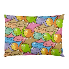 Fishes Cartoon Pillow Case (Two Sides)