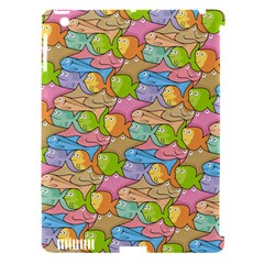 Fishes Cartoon Apple iPad 3/4 Hardshell Case (Compatible with Smart Cover)