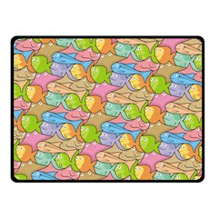 Fishes Cartoon Double Sided Fleece Blanket (Small)