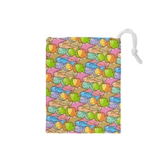 Fishes Cartoon Drawstring Pouches (Small)
