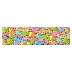Fishes Cartoon Satin Scarf (Oblong)