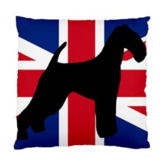airedale terrier silhouette on flag Standard Cushion Case (Two Sides)