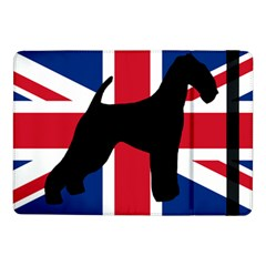 airedale terrier silhouette on flag Samsung Galaxy Tab Pro 10.1  Flip Case