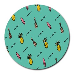 Guitar Pineapple Round Mousepads