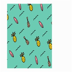 Guitar Pineapple Small Garden Flag (two Sides)
