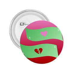 Money Green Pink Red Broken Heart Dollar Sign 2 25  Buttons