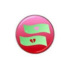 Money Green Pink Red Broken Heart Dollar Sign Hat Clip Ball Marker (10 Pack)