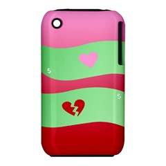 Money Green Pink Red Broken Heart Dollar Sign iPhone 3S/3GS