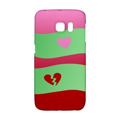 Money Green Pink Red Broken Heart Dollar Sign Galaxy S6 Edge