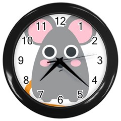 Mouse Grey Face Wall Clocks (Black)