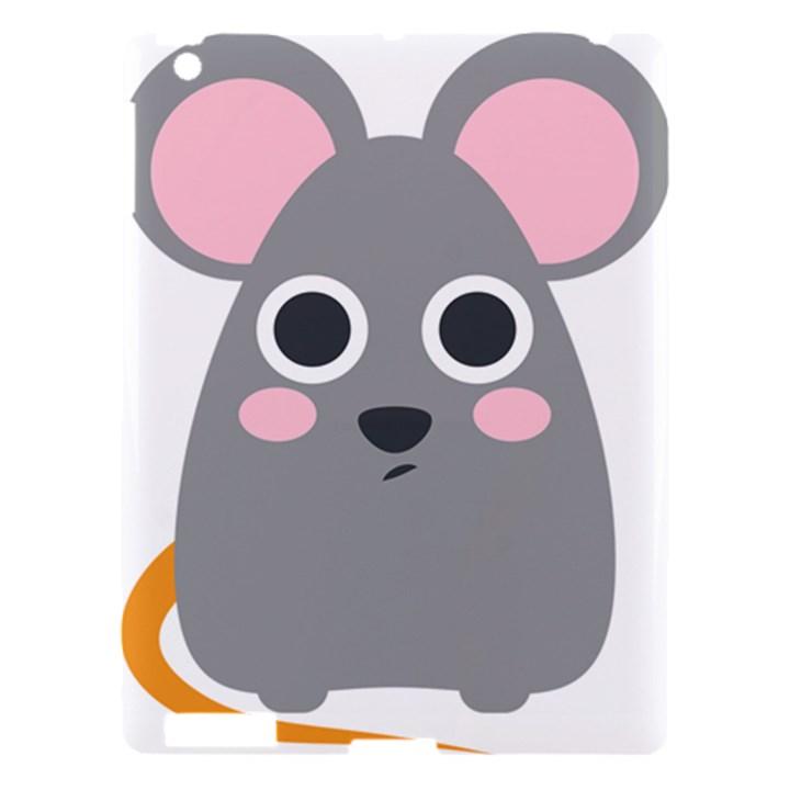 Mouse Grey Face Apple iPad 3/4 Hardshell Case