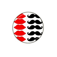 Mustache Black Red Lips Hat Clip Ball Marker (10 pack)