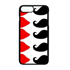 Mustache Black Red Lips Apple Iphone 7 Plus Seamless Case (black)