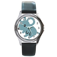 Mouse Round Metal Watch