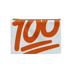 Number 100 Orange Cosmetic Bag (Medium)