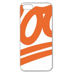 Number 100 Orange Apple Seamless Iphone 5 Case (clear)