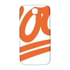 Number 100 Orange Samsung Galaxy S4 I9500/i9505  Hardshell Back Case