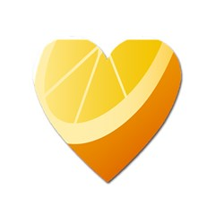Orange Lime Yellow Fruit Fress Heart Magnet