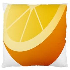 Orange Lime Yellow Fruit Fress Large Flano Cushion Case (Two Sides)