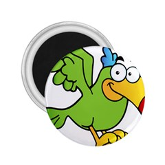 Parrot Cartoon Character Flying 2 25  Magnets