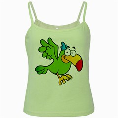Parrot Cartoon Character Flying Green Spaghetti Tank