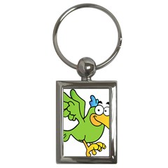 Parrot Cartoon Character Flying Key Chains (rectangle)