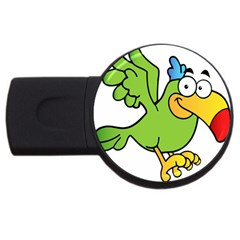 Parrot Cartoon Character Flying Usb Flash Drive Round (4 Gb)