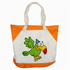 Parrot Cartoon Character Flying Accent Tote Bag