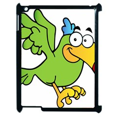 Parrot Cartoon Character Flying Apple Ipad 2 Case (black)
