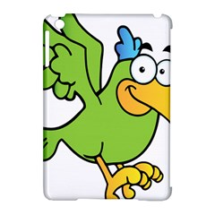 Parrot Cartoon Character Flying Apple iPad Mini Hardshell Case (Compatible with Smart Cover)