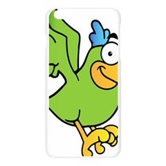 Parrot Cartoon Character Flying Apple Seamless iPhone 6 Plus/6S Plus Case (Transparent)
