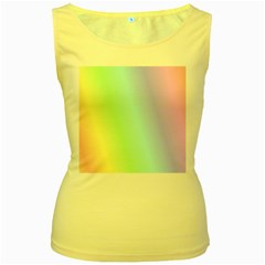 Multi Color Pastel Background Women s Yellow Tank Top
