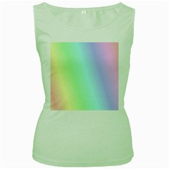 Multi Color Pastel Background Women s Green Tank Top