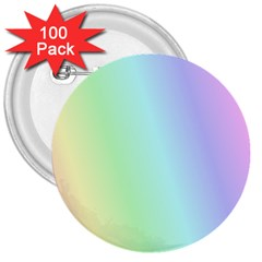 Multi Color Pastel Background 3  Buttons (100 pack)