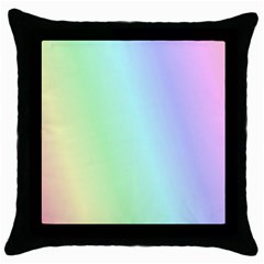 Multi Color Pastel Background Throw Pillow Case (Black)