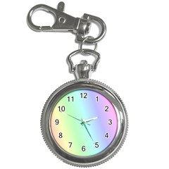 Multi Color Pastel Background Key Chain Watches