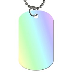 Multi Color Pastel Background Dog Tag (Two Sides)