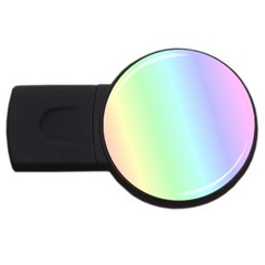 Multi Color Pastel Background USB Flash Drive Round (2 GB)