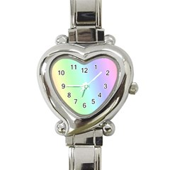 Multi Color Pastel Background Heart Italian Charm Watch