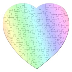 Multi Color Pastel Background Jigsaw Puzzle (heart)