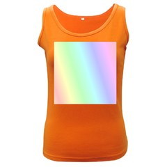 Multi Color Pastel Background Women s Dark Tank Top