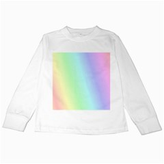 Multi Color Pastel Background Kids Long Sleeve T Shirts