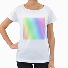 Multi Color Pastel Background Women s Loose-Fit T-Shirt (White)