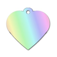 Multi Color Pastel Background Dog Tag Heart (one Side)