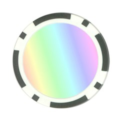 Multi Color Pastel Background Poker Chip Card Guard
